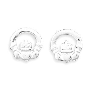 Polished Claddagh Stud Earrings(64359)