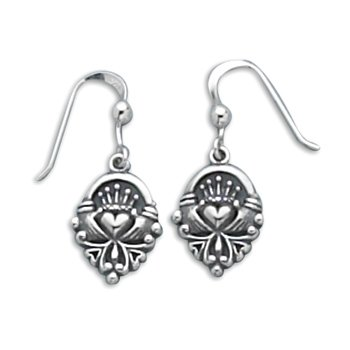 Claddagh Earrings on French Wire(6966)