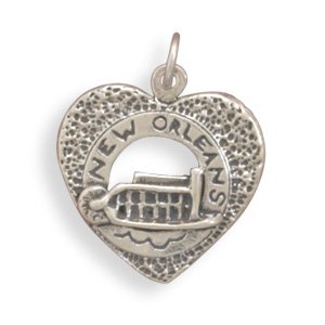 """""""New Orleans"""" Heart Charm(73722)"""