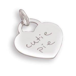 "Heart Pendant with ""cutie pie""(73796)"