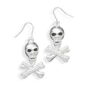 Cross Bone French Wire Fashion Earrings(W1015)