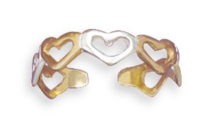 Cut Out Heart Toe Ring(9006)