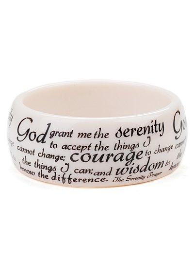 """""Serenity prayer"""" script."" bracelet (b976ivy_43HD)"