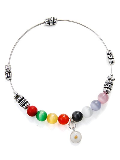 Jelly bean bracelet with Mustard Seed(b22035mul_28)