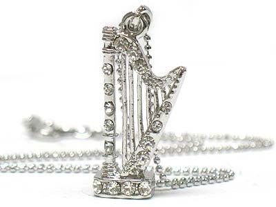 Crystal Harp Necklace(E1237SL-12148)