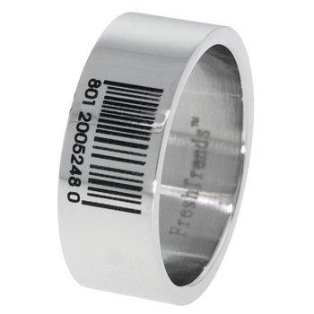 Barcode Laser Engraved Men's Stainless Steel Ring(SR-BC)