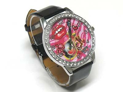 Tattoo background watch(N1573BK-65110)