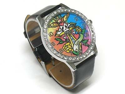 Tattoo background watch(N1573BK-65108)