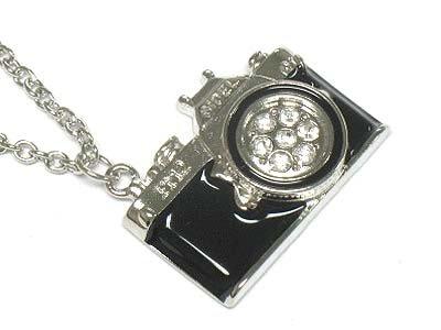 Camera pendant necklace(P1253SL-9854)