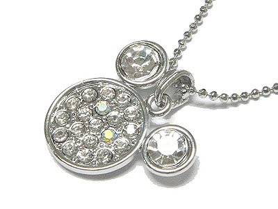 Crystal mickey necklace(S1241CL-91612)