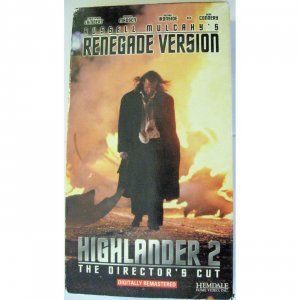 Highlander 2: The Quickening movie on VHS Tape