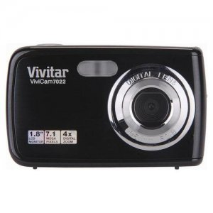 Vivitar ViviCam 7022 7.1 MP Black Digital Camera - V7022