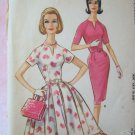 Vintage 60s McCall's 5812  Raglan Sleeve Sheath Full Skirt Dress Sewing Pattern Size 16