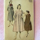 Vintage 50s Advance 5839 Duster Dress Coat Sewing Pattern  Peter Pan Collar Belted Waist Size 14