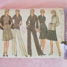 Vintage 70s Simplicity 5414 Two Piece Dress Pants Jacket Sewing Pattern Pointed Collar