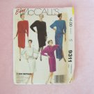 Vintage 80's McCall's 9311 Cocktail Evening Dress Pattern  Asymmetrical Sash Uncut