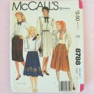 Retro 1983  McCall's 8788 Pleated Button Front Skirt Pattern  Uncut Size 14