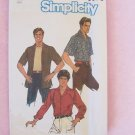 Retro Men's Shirt Pattern Simplicity  6630 Camp Shirt Button Front Notched Collar