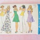 Vintage 70's Simplicity  6979 Camisole Strap Dress Blouse Pattern Long Short 1975