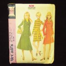 Vintage McCall's 2522 Double Breasted Coat and Mini Dress Ensemble Pattern Petite  1970's