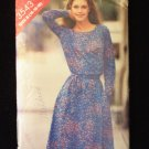 Vintage Butterick 3543 Round Neck Dress Pattern  Elastic Waist Long Sleeve
