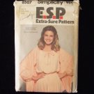 Vintage 70s Simplicity 8507 Extra Sure Pullover Dress and Shawl Pattern Raglan Sleeve