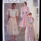 McCall's 4669 Evening Party Dress Pattern Full Skirt Bridesmaid Dress
