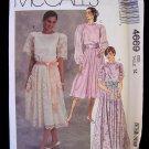 McCall's 4669 Evening Party Dress Pattern Full Skirt Bridesmaid Dress