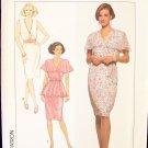 Simplicity  9705 Surplice Peplum Dress Pattern Sleeveless Uncut Size  4-12