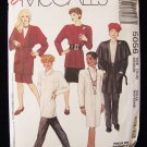 McCall's 5056 Retro Wrap Jacket Chemise Dress Cowl Top Skirt and Pants Pattern