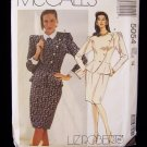 McCall's 5054 Liz Roberts Two Piece Dress Pattern Top Skirt and Belt Uncut