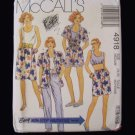 McCall's 4918 Camp Shirt Tank Top Mock Wrap Skirt Pants Shorts Pattern Summer Outfit