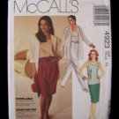 McCall's 4923 Shirt Jacket Tank Top Skirt Pants Pattern Size 14