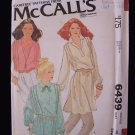 Vintage 70's McCall's  6439 Tunic Blouse Pattern Long Sleeve Peter Pan Notched Collar