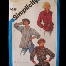 Simplicity  6600 Vintage 80's Long Sleeve Shirt Pattern Loose Fit Long Style