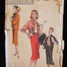 Vintage 50's Butterick  7925 Box Jacket Straight Wiggle Skirt Blouse Dress Pattern
