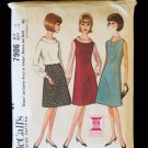 McCall's 7906 A-Line Dress Jumper Blouse Skirt Pattern 1960's Size 16