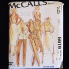 McCall's Basile 6619 70's Notched Collar Jacket Skirt Pants Tank Top Pattern Size 12