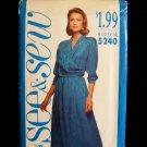 Butterick 5240 Wrap Top Skirt Dress Sewing Pattern Uncut Size 12-16