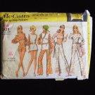 Vintage 70's McCall's  2283 Midriff Top Bell Bottom Pants Tunic Pattern Summer Wardrobe