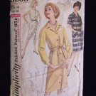 Vintage 60's Simplicity  5258 Loose Fit Button Front Dress Pattern Size 18
