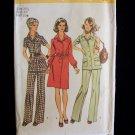 Simplicity  5735 Dress Button Front Tunic Pants Pattern Vintage 70's Uncut Size 20.5