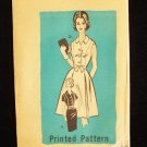 "Vintage 60""s Mail Order Dress Pattern  9196 Slim or Pleated Full Skirt Button Front Uncut"