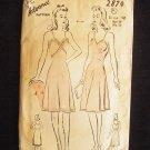 Vintage 40's Advance  2874 Slip Pattern Size 12 Camisole Top Full Slip