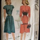 Vintage 40's McCall  6683 Empire Waist Day Dress Pattern Round Neckline Dated 1946