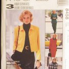 McCall's 8458 Button Front Jacket Top and Pants Pattern Size 16-18-20 Uncut