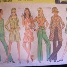 Vintage 60's McCall's 2210 Pants Jacket Coat Mini Dress Blouse and Hat Sewing Pattern Uncut