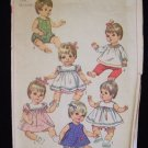 Vintage Simplicity  7970 Doll Dress Pattern for Betsy Wetsy Baby Giggles Tubsy 1968