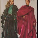 New Look 6151 Long Cape and Pleated Skirt Sewing Pattern Uncut