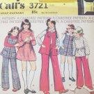 Vintage 70s McCalls  3721 Girls Jumper Vest Blouse and Pants Sewing Pattern Uncut Size 6